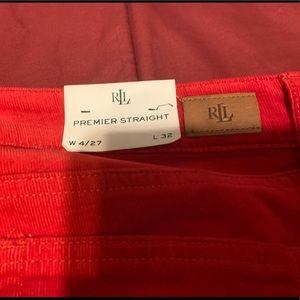 LAUREN RALPH LAUREN Red Corduroy Pants